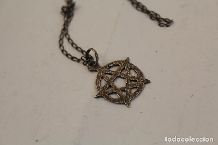 Joyeria: colgante pentagrama - estrella de david y cadena en plata de ley - Foto 4 - 268861034