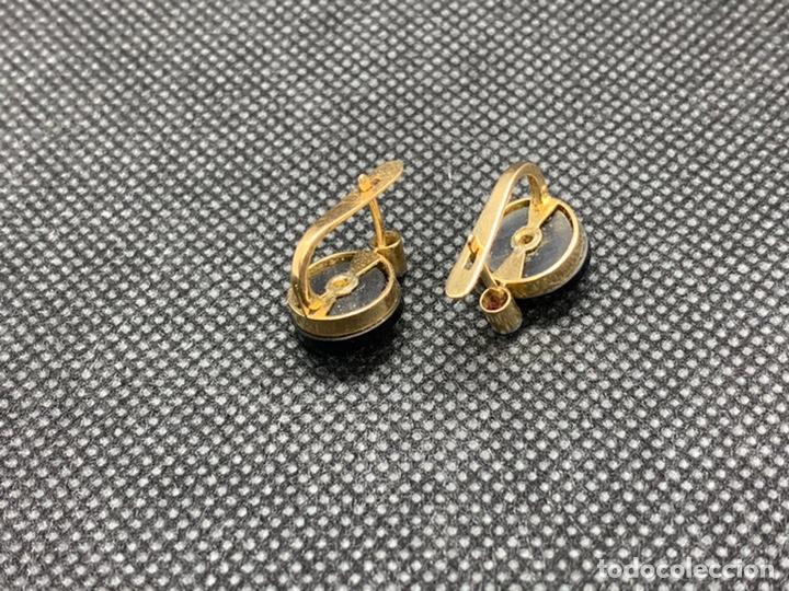 Joyeria: Pendientes de oro, brillantes y onix. - Foto 3 - 236194455
