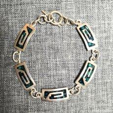 Joyeria: PULSERA PLATA DE LEY 925, ARTESANAL, MEXICANA. Lote 236207930