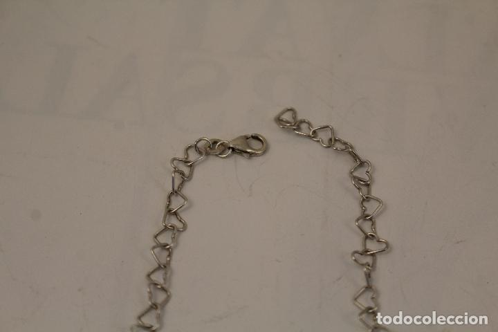 Joyeria: collar plata 925 cadena de corazones - Foto 2 - 268869024