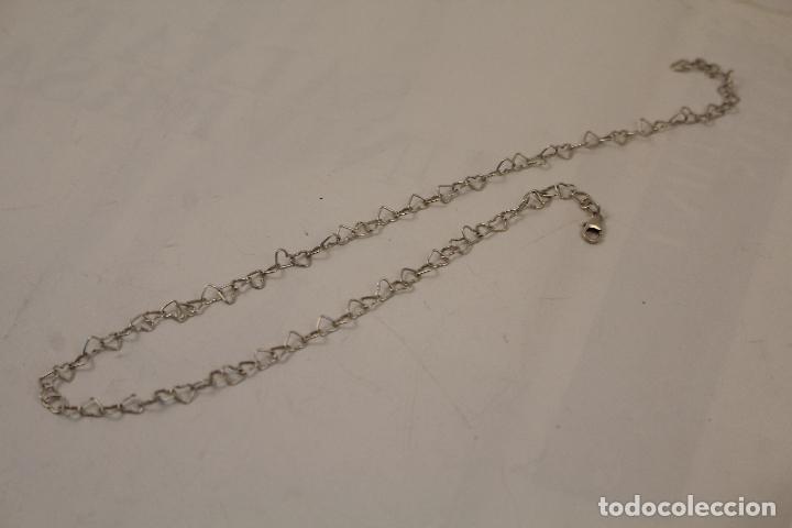 Joyeria: collar plata 925 cadena de corazones - Foto 3 - 268869024