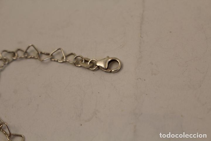 Joyeria: collar plata 925 cadena de corazones - Foto 5 - 268869024