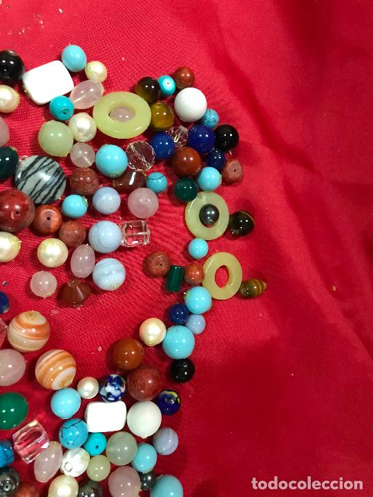 Joyeria: lote de bolas piedras de diferentes medidas y estilos, turquesitas, ojo de tigre etc, - Foto 6 - 236341200