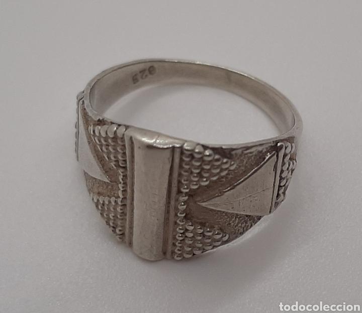 Joyeria: Selló vintage plata de ley 925 talla pequeña, n° 9 equivalente 15.6 mm y 2.92 gr - Foto 2 - 236379935
