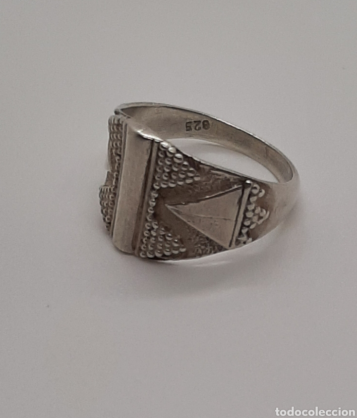 Joyeria: Selló vintage plata de ley 925 talla pequeña, n° 9 equivalente 15.6 mm y 2.92 gr - Foto 3 - 236379935