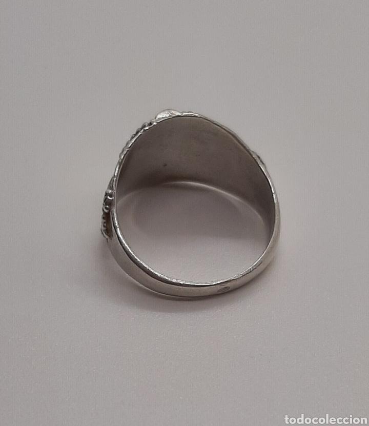 Joyeria: Selló vintage plata de ley 925 talla pequeña, n° 9 equivalente 15.6 mm y 2.92 gr - Foto 4 - 236379935