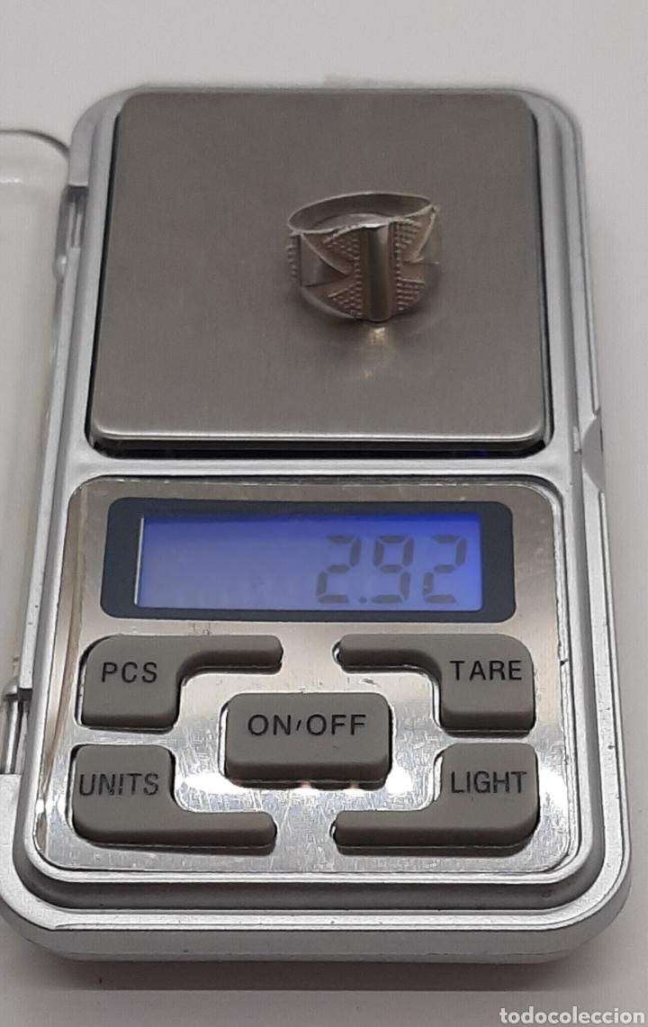 Joyeria: Selló vintage plata de ley 925 talla pequeña, n° 9 equivalente 15.6 mm y 2.92 gr - Foto 5 - 236379935