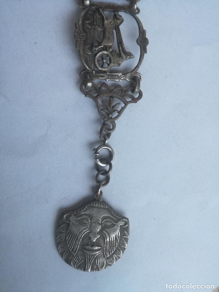 Joyeria: CURIOSO BRAZALETE TALLADO EN METAL PLATEADO CON IMAGENES DE LA ANTIGUA BABILONIA - Foto 6 - 236456665