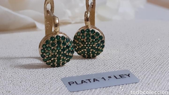 Joyeria: Pendientes de plata y esmeraldas - Foto 2 - 236499710