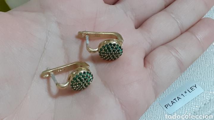 Joyeria: Pendientes de plata y esmeraldas - Foto 4 - 236499710