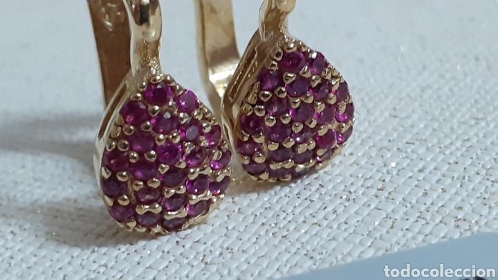 Joyeria: Pendientes de plata y rubíes naturales - Foto 3 - 236499875