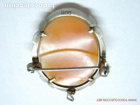 Joyeria: CAMAFEO ANTIGUO DE PLATA LEY 800 y marquesitas engarzadas - Foto 3 - 236748085