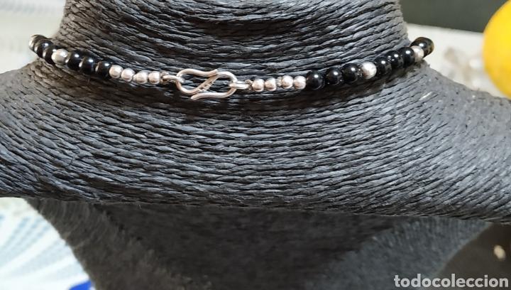 Joyeria: Preciosa Gargantilla de plata de ley Onix y turquesa - Foto 3 - 236914840