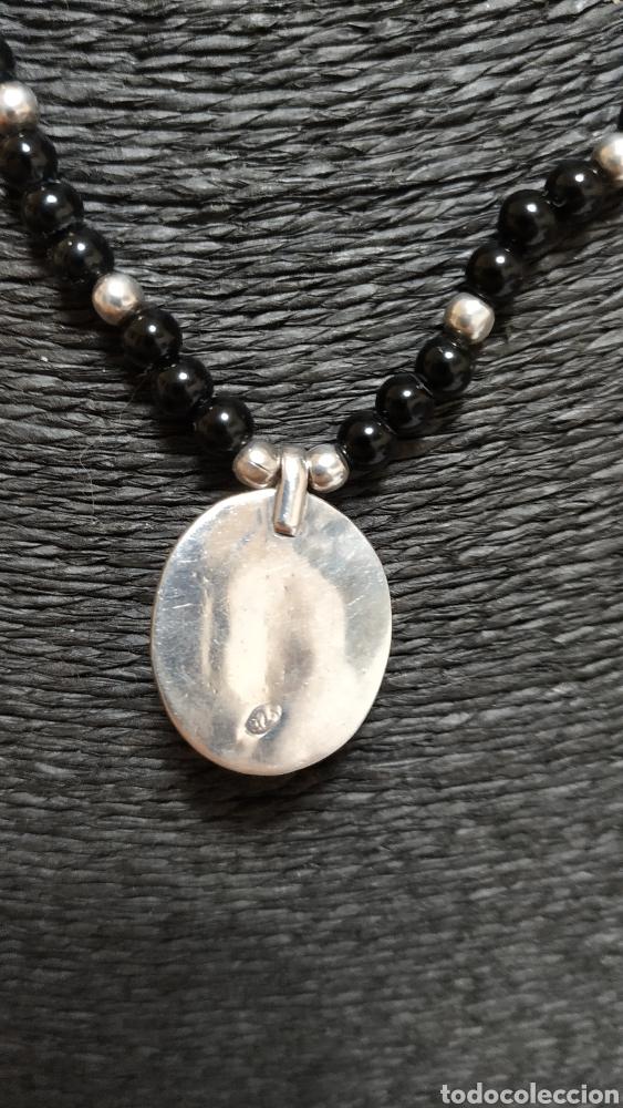 Joyeria: Preciosa Gargantilla de plata de ley Onix y turquesa - Foto 4 - 236914840