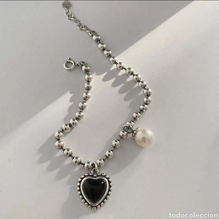 Joyeria: Pulsera de Plata Corazón y Perla - Foto 2 - 237024975