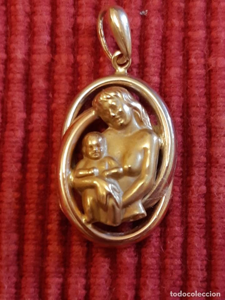 Joyeria: Antigua medalla de la madre de oro de 18 quilates - Foto 2 - 237275595