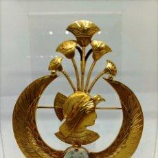Joyeria: BROCHE DE PLATA CON DISEÑO EGIPCIO ANTIGUO. Lote 237305560