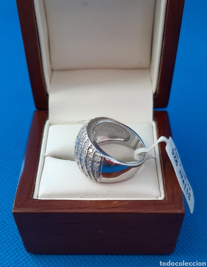Joyeria: Anillo plata de ley Rodiada 925 y circonitas. - Foto 6 - 237489010