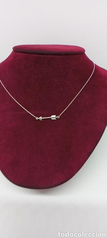 Joyeria: Collar flecha india de plata de 1 ley 925 contrastada - Foto 2 - 237999395
