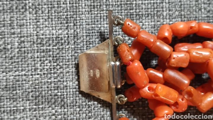 Joyeria: Preciosa Gargantilla de Coral y Marfil,cierre Plata - Foto 3 - 239373910