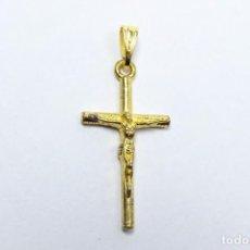 Joyeria: COLGANTE CRUZ CON CRISTO EN ORO AMARILLO, PEQUEÑA. Lote 239746520