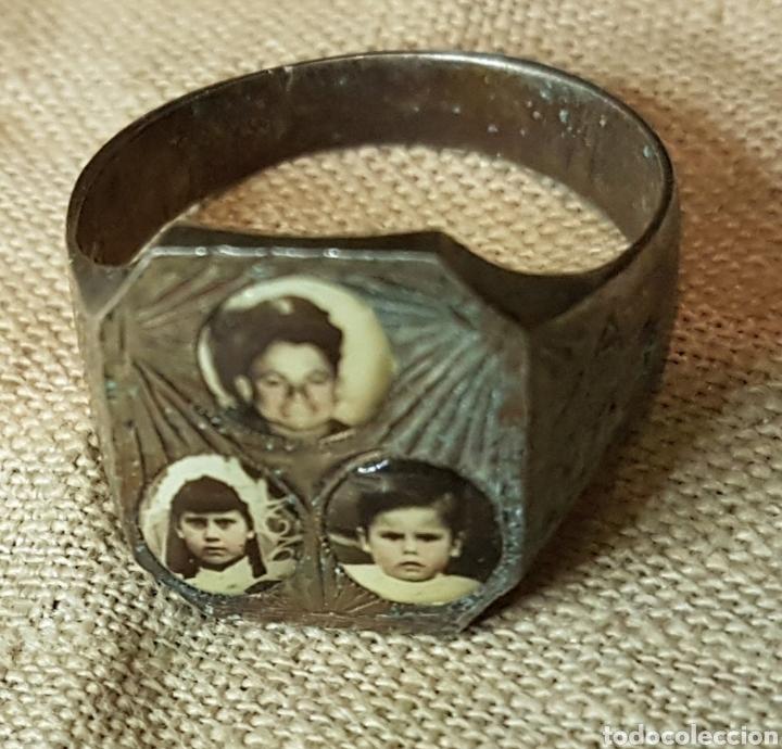 Joyeria: Antiguo anillo plata fotografias de militar y niños - Foto 2 - 240534860