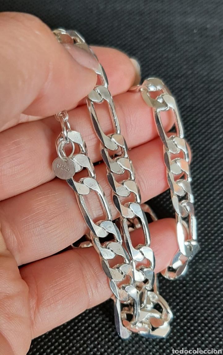 Joyeria: Cadena de hombre chapada en plata 925, y de 50 cm , 31.35 gramos , 8.0 mm de anchura y 1.9 mm grosor - Foto 4 - 240542895
