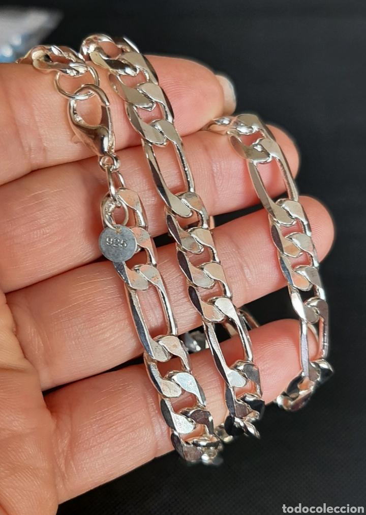 Joyeria: Cadena de hombre chapada en plata 925, y de 50 cm , 31.35 gramos , 8.0 mm de anchura y 1.9 mm grosor - Foto 5 - 240542895
