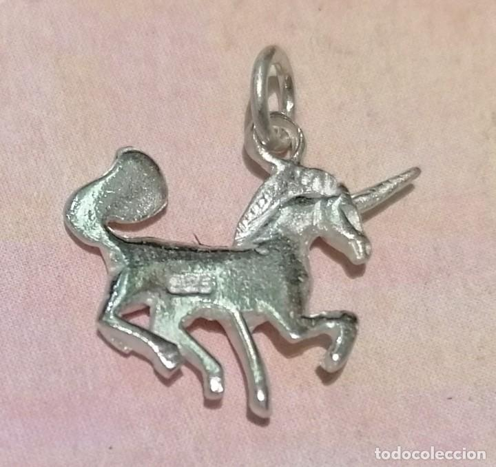 Joyeria: colgante caballo unicorno en plata de ley macizo - 18mm + anillas - Foto 2 - 288614583