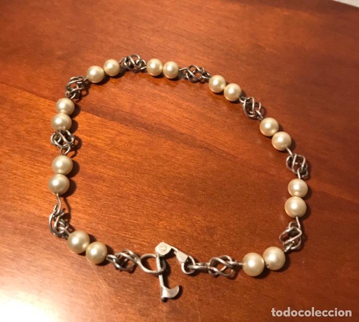 Joyeria: Antigua pulsera plata y perlas - Foto 2 - 242822990