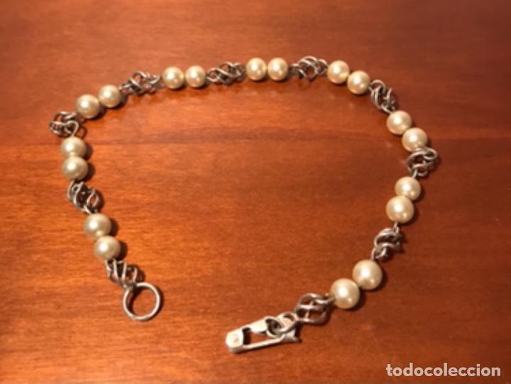 Joyeria: Antigua pulsera plata y perlas - Foto 3 - 242822990