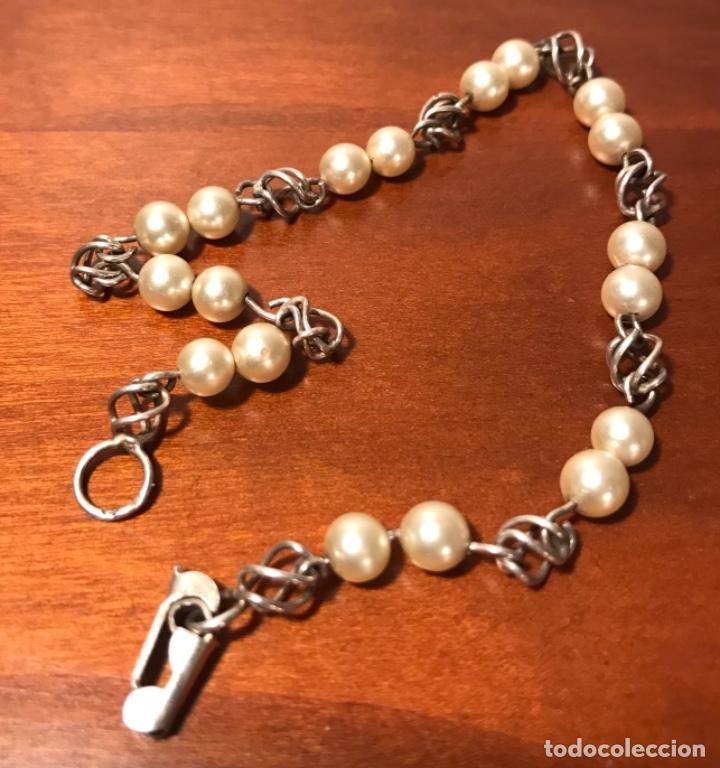 Joyeria: Antigua pulsera plata y perlas - Foto 5 - 242822990