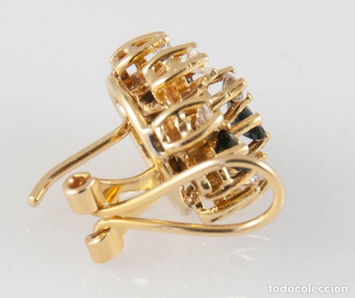 Joyeria: Pendientes en oro 18k con zafiros y brillantes - Foto 6 - 243858495