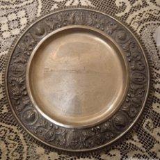 Joyeria: PRECIOSA FUENTE PLATO DE PLATA DE LEY REPUJADA. Lote 243890035