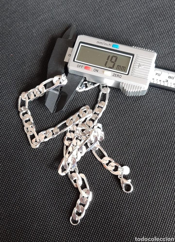 Joyeria: Cadena de hombre chapada en plata 925, y de 50 cm , 31.35 gramos , 8.0 mm de anchura y 1.9 mm grosor - Foto 8 - 240542895