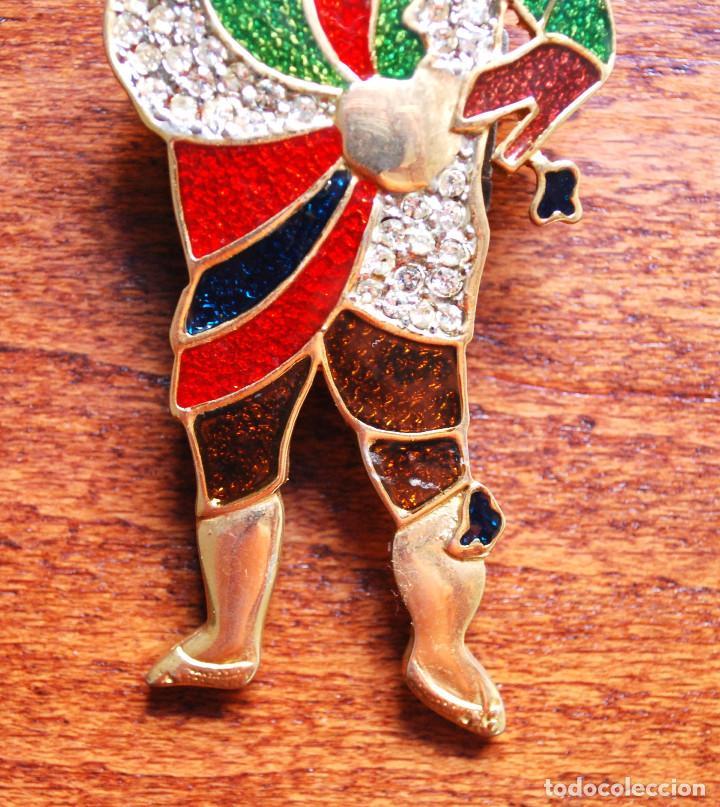 Joyeria: Precioso broche de metal chapado en oro, esmalte y circonitas, firmado Leritz (fotos adicionales) - Foto 3 - 244268260