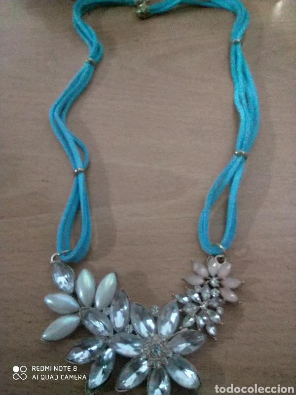 Joyeria: Maravillosa gargantilla de colección con cristales y fieltro azul diseño exclusivo - Foto 2 - 244627850