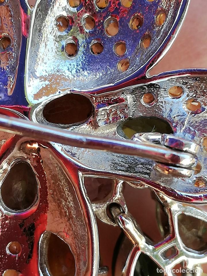 Joyeria: BROCHE DE PLATA con VISTAS de ORO con ZAFIROS y TURMALINAS GENUINOS - Foto 6 - 245023845
