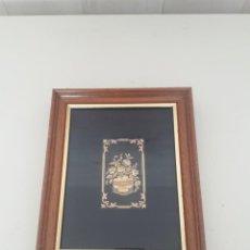 Joyeria: CUADRO DAMASQUINADO EN ORO DE 24 KILATES. REALIZADO EN TOLEDO. Lote 246286735