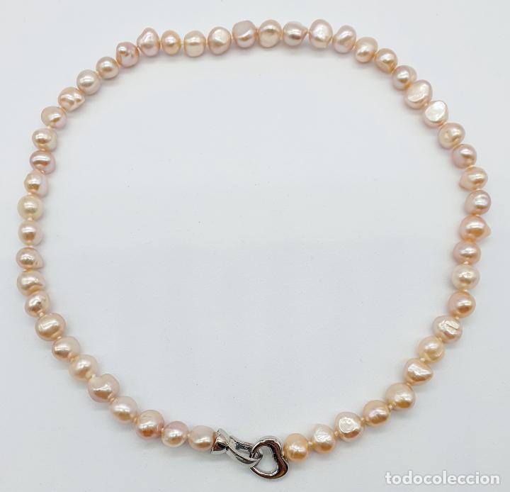Joyeria: Elegante gargantilla de perlas cultivadas en tonos pastel con cierre chapado en oro blanco de 18k . - Foto 6 - 246320765