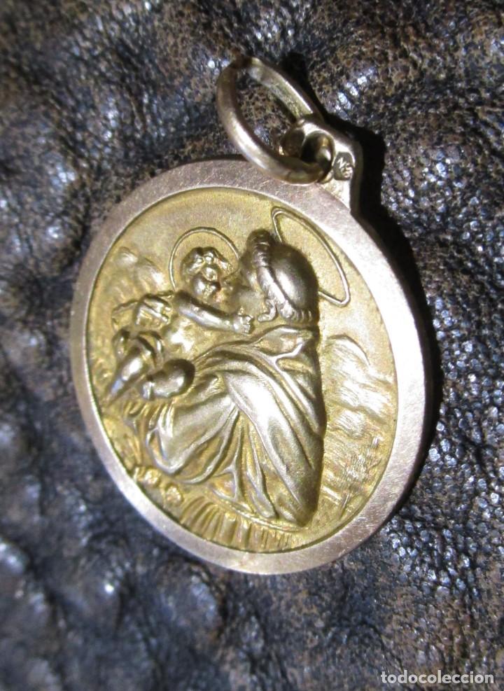 Joyeria: medalla colgante de oro san antonio de padua con niño 3,9 gramos 2,2 cm diametro - Foto 4 - 247590225