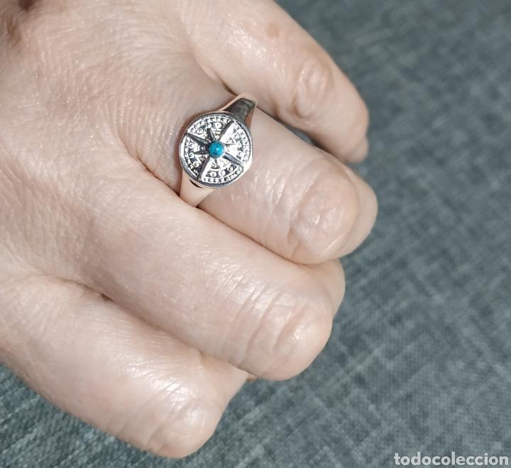 Joyeria: Anillo de plata de ley y turquesita - Foto 3 - 247590300
