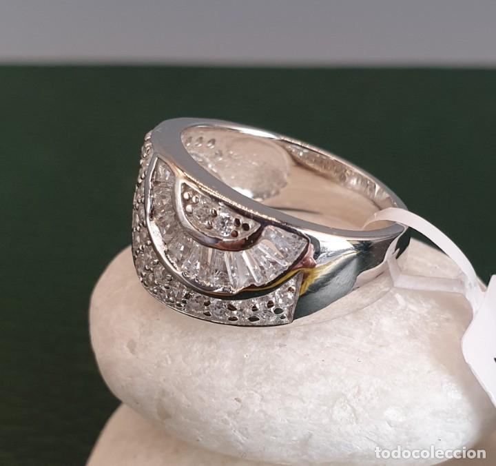 Joyeria: Anillo plata 1° ley 925 y zirconita corte baguet. - Foto 8 - 248047525