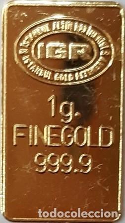 LINGOTE 1 GRAMO ORO PURO FINO 24 K (999,9) REFINERÍA IGR ISTAMBUL (Joyería - Varios)