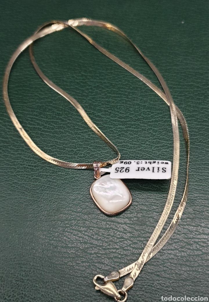 Joyeria: Collar plano y colgante plata chapado en oro rosa. - Foto 4 - 251195920