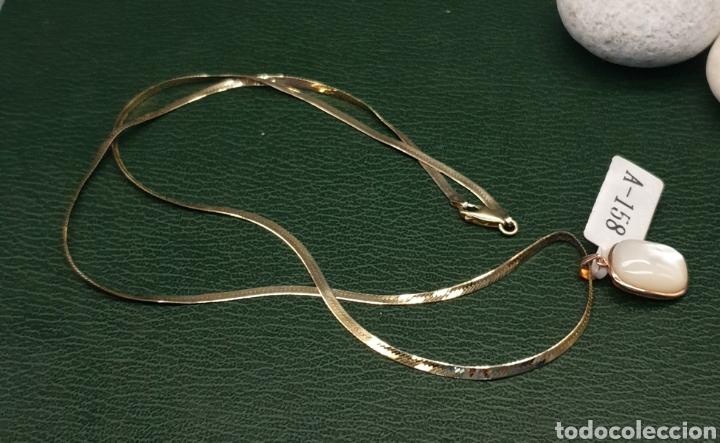 Joyeria: Collar plano y colgante plata chapado en oro rosa. - Foto 6 - 251195920