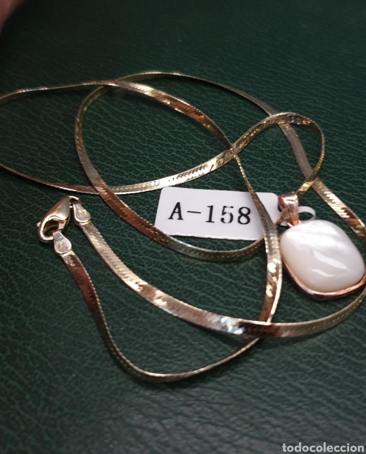 Joyeria: Collar plano y colgante plata chapado en oro rosa. - Foto 10 - 251195920