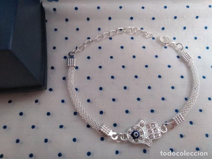 Joyeria: Pulsera acero inox. mano de Fátima con ojo turco amuleto protector - Foto 4 - 251720700