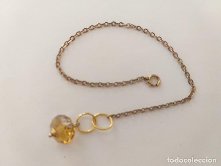 Joyeria: Pulsera. Cadena dorada. Piedra color amarillo. 18 cm - Foto 3 - 252056350