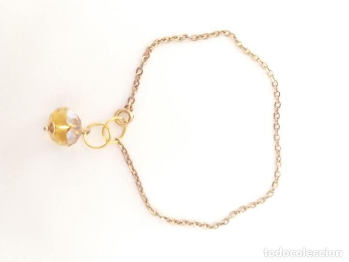 Joyeria: Pulsera. Cadena dorada. Piedra color amarillo. 18 cm - Foto 4 - 252056350